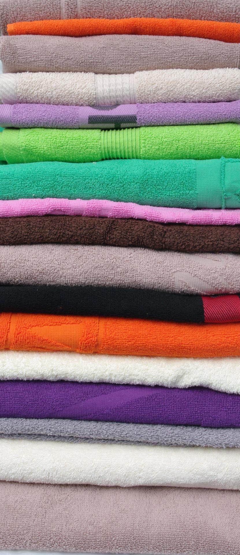 полотенца махровые цветные
